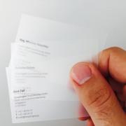 verschiedene gefrostete PP Visitenkarten