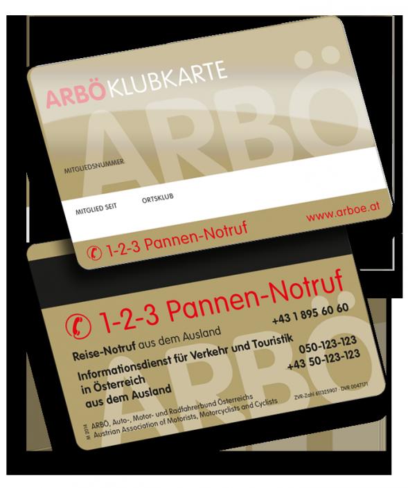 ARBÖ Mitgliedskarte von VARIUSCARD