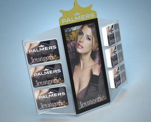 Gutscheinkarten Ständer Display Palmers POS für Kassa von VARIUSCARD