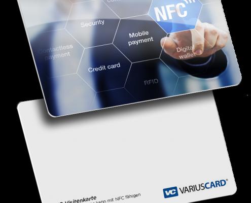 NFC Visitenkarte mit RFID Chip, free nfc business card