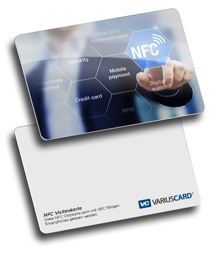 NFC Visitenkarte mit RFID Chip, free nfc business card