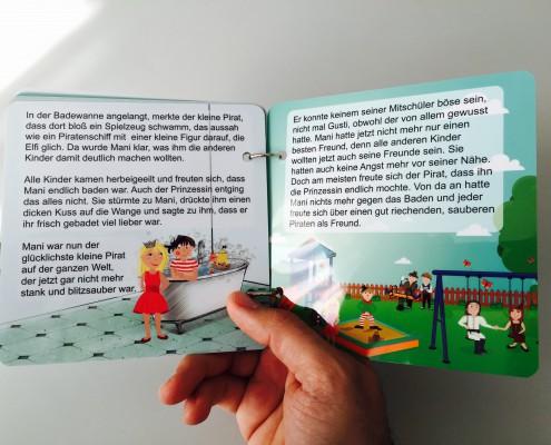 Buch wasserdicht Folie bedruckt