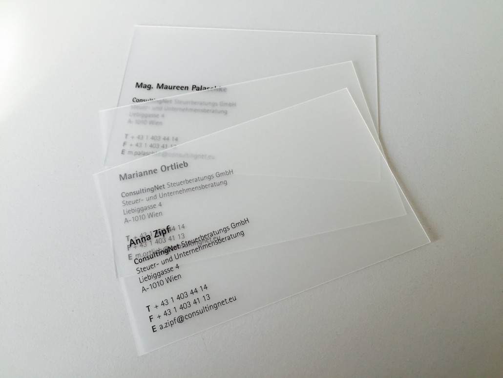Visitenkarten Aus Kunststoff Plastik Visitenkarten Kaufen