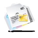Kartenmailing Plastikkarten Mailing