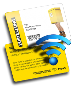 RFID NFC Postkarte Kundenkarte