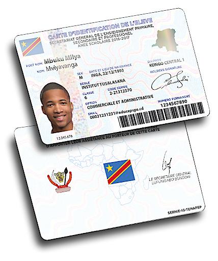 Schülerausweis der demkratischen Republik Kongo