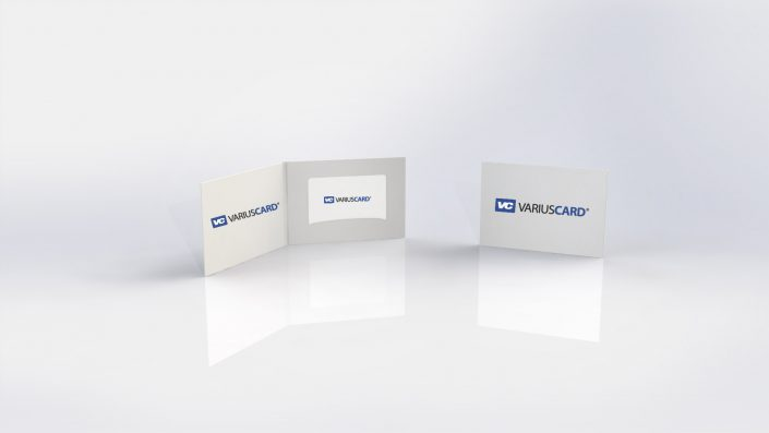 Kartenverpackung für Plastikkarten Variuscard