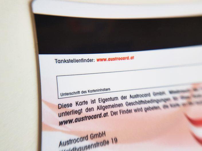 Austrocard Unterschriftenfeld und Magnetstreifen, Signature panel
