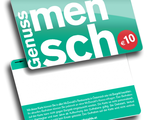 MC Donalds Gift Card Genussmensch from Variuscard