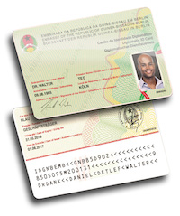 Sicherer Personalausweis Guinea Bissau
