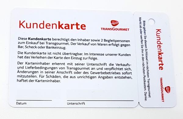 Schlüsselbundanhänger Plastikkarte - Keytag