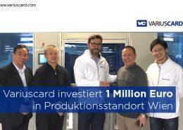 Variuscard investiert 1 Million Euro in Produktion in Österreich